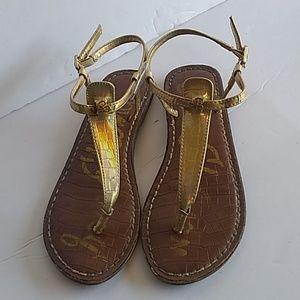 Sam Edelman gold Gigi charm sandals